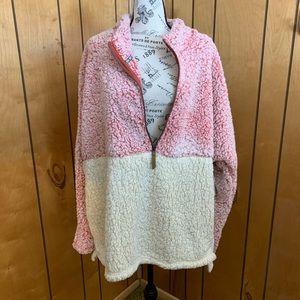 Time&tru 3/4 faux Sherpa sweater